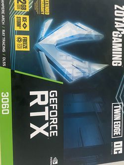 Zotac RTX 3060 Twin Edge OC 12GB 192BIT GDDR6 for Sale in Orlando,  FL