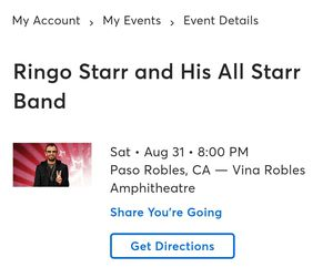 Ringo Starr @ Paso Robles, CA Vina Robles for Sale in Adelaide, CA
