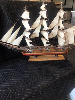 """Ship Model for display... Labeled, """"Fragata""""... great for display in den or boys room. It's good size, in fair shape. Looks good, I would use it in a for Sale in Temecula, CA"""