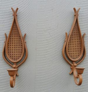 Vintage Pair Of Wall Sconce Candle Holders for Sale in Chapel Hill, NC
