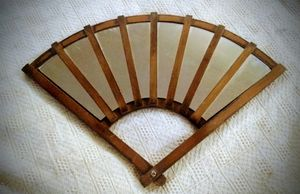Mirror fan with wooden frame wall decor for Sale in Portland, OR