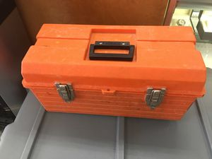 Orange tool box with tools for Sale in Severn, MD