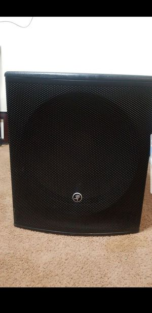 SRM 1801 18 inch Powered subwoofer & Mackie SA1521 Active Sound Speaker for Sale in Silver Spring, MD