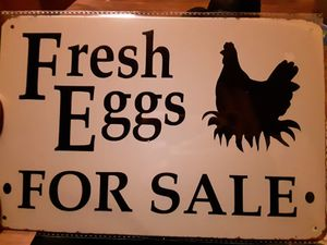 Fresh Eggs For Sale Tin Sign for Sale in Dighton, MA
