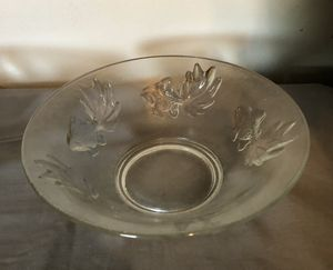Clear Glass Bowl With Gold Fish On Bowl for Sale in Richmond, VA