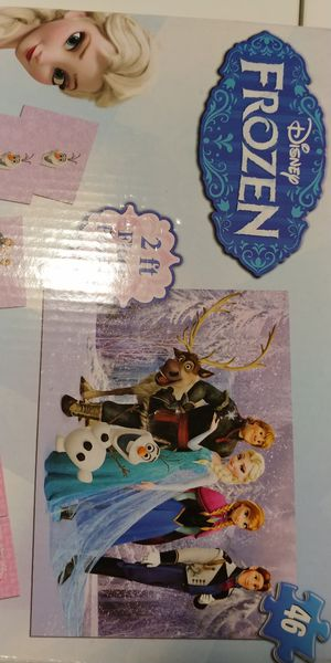 Disney Frozen 3 in 1 Activity Game box - Puzzle, Dominoes and Memory match for Sale in Chicago, IL