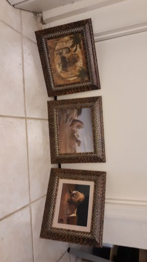 """Beautiful 3 Pc Wall Decor 14"""" X 12"""" for Sale in Kissimmee, FL"""