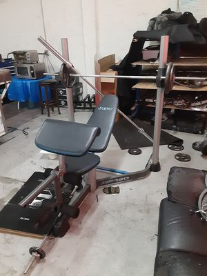 Xp 160 weight bench everything included for Sale in Riverside, CA