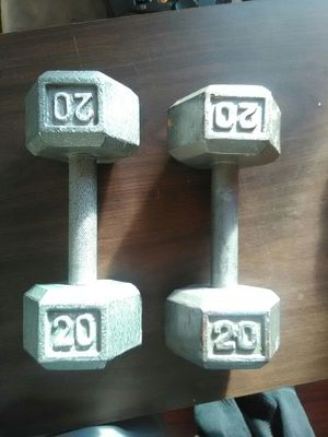 Two dumbbells for Sale in Lowell, MA