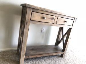 FARMHOUSE CONSOLE TABLE DRAWER SHELF for Sale in Tacoma, WA