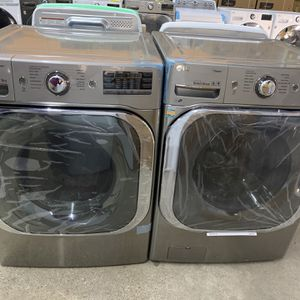 NEW XL Stainless Steel LG Front Load Washer And Dryer! WE FINANCE, No Credit Checks! for Sale in Houston, TX