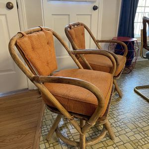 Vintage ratttan swivel chairs for Sale in Chapel Hill, NC