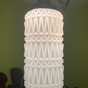 Mid Century Milk Glass Hanging Lamp for Sale in Tacoma, WA