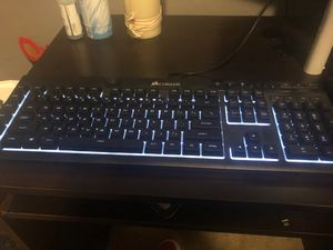 Corsair k55 rgb gaming keyboard wired for Sale in Graham, WA