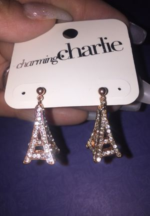 Rose gold Eiffel Tower earrings for Sale in Salinas, CA