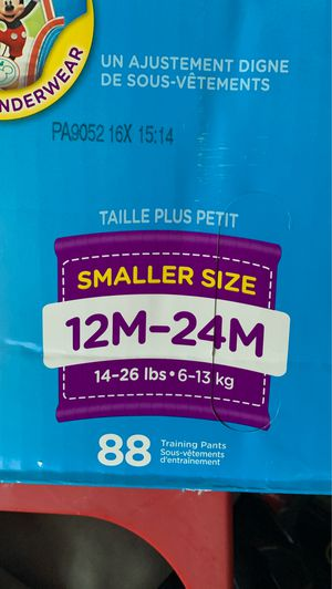 Huggies pull-ups training pants 12 to 24 month for Sale in Union City, CA