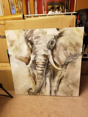 Elephant painting on canvas paper for Sale in Laurel, MD