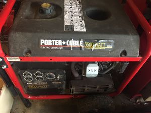 Generator - Porter Cable 5500 watt for Sale in NO POTOMAC, MD