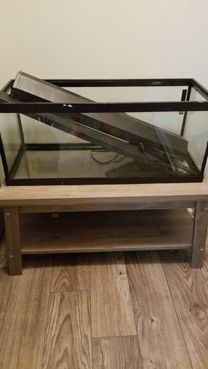 20 gallon fish tank with LED lid OBO for Sale in Smyrna, GA