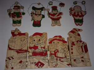 HOLIDAY TIME, WOOD CRAFT ORNAMENTS and WOOD DECORATION PANEL for Sale in Manteca, CA