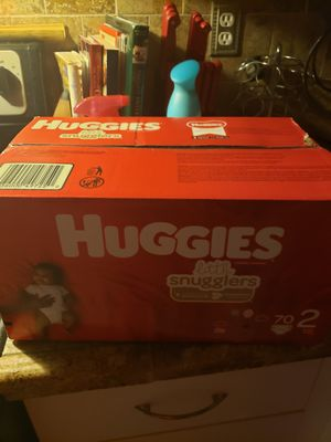 Hugguies lattle size 2 70 diapers for Sale in Homestead, FL