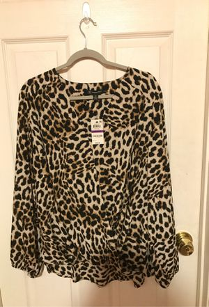INC 2X Cheetah Blouse for Sale in Rosemead, CA