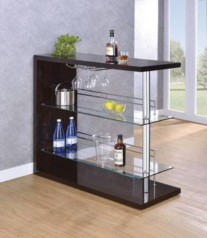 Glossy Brown Bar Unit with Wine Rack! Lowest Prices Ever! for Sale in Sacramento, CA