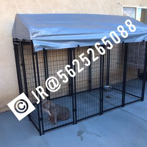 Large outdoor dog kennel cage jaula new! for Sale in San Bernardino, CA