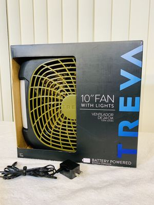 "New - O2COOL Treva 10-Inch 2 Speed Battery Powered Portable Fan With Adjustable LED Lights + FREE A/C Power Adapter ""Not Sold w/ Fan in stores"" 😁 for Sale in Boynton Beach, FL"