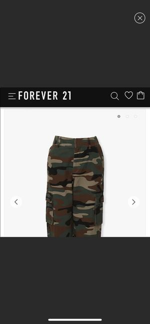 Brand new Forever 21 camo cargo pants for Sale in San Diego, CA
