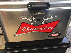 Budweiser Coleman stainless steel cooler for Sale in Bridgeport, CT