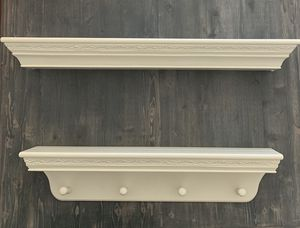 Floating Wall Mount Molding Ledge Shelves Set of 2 Off White for Sale in Thousand Oaks, CA