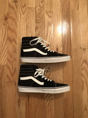 Black & White Classic Vans size 9.5 for Sale in NO POTOMAC, MD