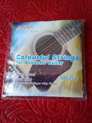 ASM Colourful Acoustic Guitar Strings for Sale in Burns, KS