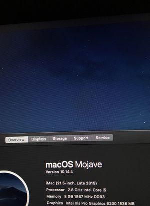 iMac 21.5 inch late 2015 2.8ghz for Sale in Alexandria, VA