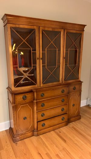 Beautiful secretary desk hutch with beveled glass. for Sale in Troy, NY