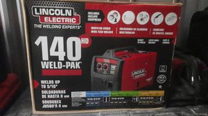 *NEW* LINCOLN ELECTRIC 140HD WELD-PAK MIG/FLUX-CORED WIRE FEED WELDER **RETAIL $579.99** for Sale in Tupelo, MS