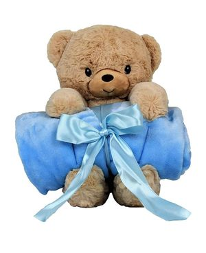 "Stuffed Animal Blanket – Super Soft 37"" x 30"" Blue Baby Boy Blanket and Teddy Bear 2-in-1 Combo – Perfect Teddy Bear Blanket for Sale in Los Angeles, CA"