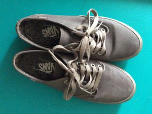Vans grey women's size 7 canvas sneakers for Sale in Somerville, MA