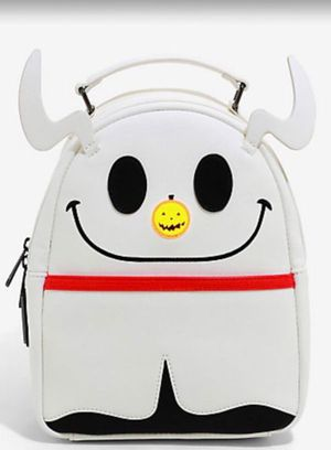 Loungefly Disney The Nightmare Before Christmas Zero Glitter Light-Up Nose Mini Backpack for Sale in Rosemead, CA