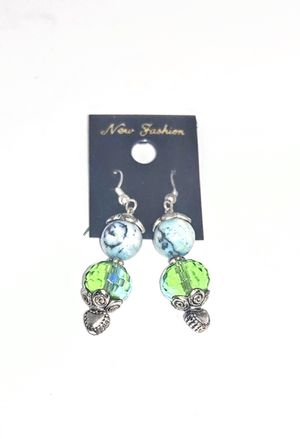 """Cool Silver Tone Earrings w/Blue & Color Changing Stones (sometimes green, sometimes blue, sometimes purple). NWOT. Approx 1.5"""" SHIPPING ONLY!!! for Sale in Colorado Springs, CO"""