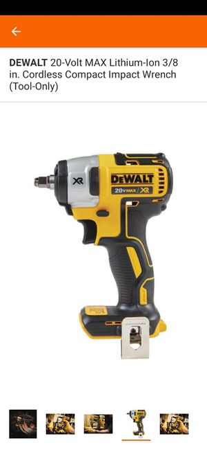 DEWALT 20-Volt Max Lithium-Ion 3/8 in. Cordless Compact Impact Wrench with xr brand new tool only nuevo firm price for Sale in San Bernardino, CA