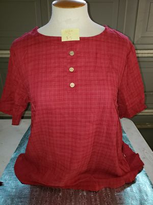size S red button top for Sale in Bakersfield, CA