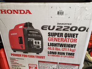 New in box Honda generator eu2200i for Sale in San Diego, CA