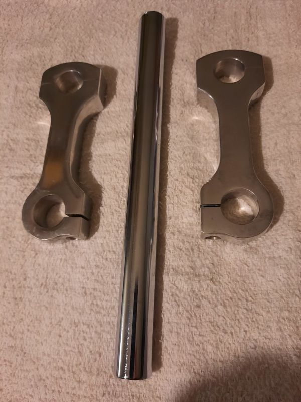 "New! Custom Chopper Bobber Handlebar 4"" Riser Dogbone Dog Bone 7/8"" Bars"