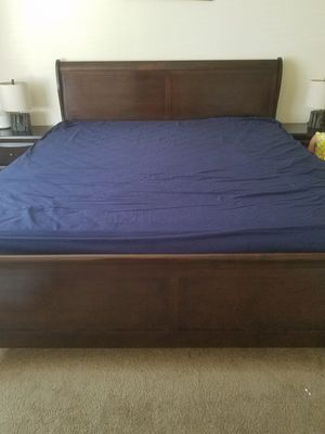 Like new, king size bed set along with side tables (firm) move out sale for Sale in San Jose, CA