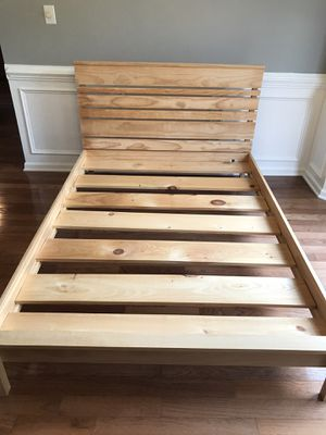 Full Size Wood Bed Frame for Sale in Wake Forest, NC