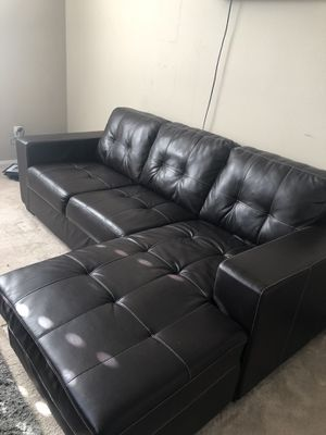 Leather sofa chaise for Sale in Temecula, CA
