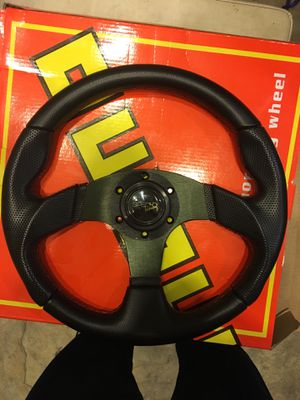 Racing steering wheel 6 bolt !!!! Brand new for Sale in West Covina, CA
