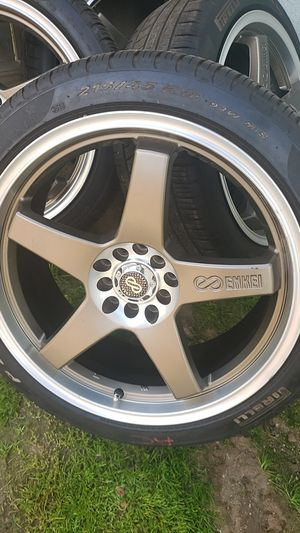 ENKEI 18 inch rims with tires. for Sale in Fresno, CA